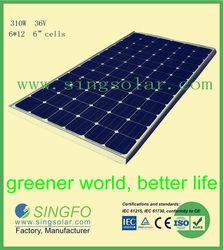310w 36v monocrystalline chinese pv solar panel kit for sale