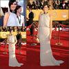 Kristen Wiig Red Carpet Halter Top Backless Long Chiffon Elegant Celebrity Dress