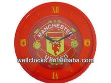 2014Cheap hot sale promotion manchester team cheap football ajanta wall clock