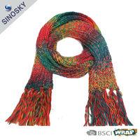 fashion 100%acrylic ladies hand crochet scarf
