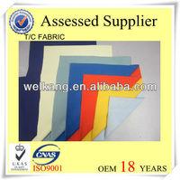 "T/C 65/35 110X76 45X45 44/45"" 65 polyester 35 cotton fabric mixed woven fabrics T/C fabric"
