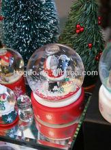 Christmas snow globe with snowman design