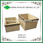 Hot sell colored handmade weaving paper basket set