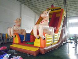 Christmas inflatable slide,18ft inflatable slide,inflatable snow slide