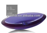 Clear color resin basin /Table Top wash basin New Italian classic bathroom sink for America market