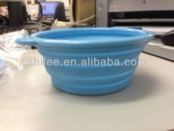 Foldable Silicone Travel dog Bowl