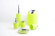 4Pcs Green Plastic Accessories Bathroom Gift Set
