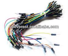 10*65pcs fio jumper kit de cabo 65 pcs/pack aplicar para breadboard solderless
