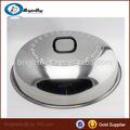 olla de acero inoxidable cubierta de tapa de la tapa de sartén wok cubrir los alimentos