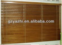 wooden blind with 3.5cm coating wood slat, drawstring type
