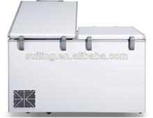 1750L 2 door freezer, r134a chest freezer, foam top cover chest freezer