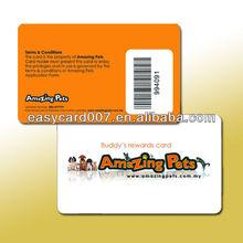 Chinese preprinted PVC barcode card