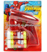 Transparent spider-man flash three light bubble gun &music