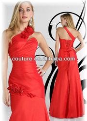 Hot Selling Elegant Chiffon Design Backless Sexy sleeveless beaded flowers Long Evening dresses from dubai 2015 OW035