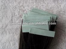 100% Brazillian human remy virgin hair tape skin weft black straight hiar extension
