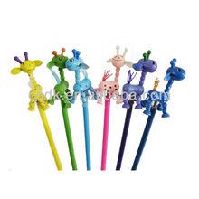 Wooden Cartoon Animal giraffes Decor ball point pen school accessories