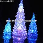 modern glass Christmas tree with led light and liquid