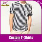Striped O Neck Men Cheap T Shirt