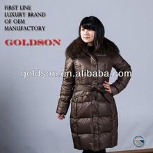 Latest Winter Women Long Style Down Coat With Big Fur Hood