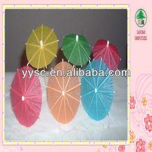 Disposable colorful cocktail umbrella sticks, bamboo sticks umbrella direction