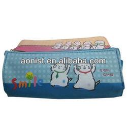 cotton drawstring school pen bag