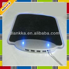 4 port usb hub LED mouse pad with led light