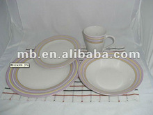 16pc color porcelain round with decal dinnerware/best home dinnerware
