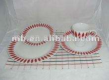 16pc royal porcelain dinnerware/best home porcelain/porcelain dinnerware