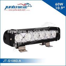 "Juntu automobile 60w cree led 10.9"" single stack led front bumper light bar"