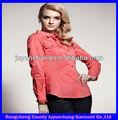 2014 novo modelo atacado blusas feminina para uniforme