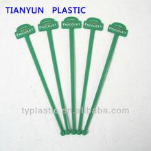 Plastic drinking stick flat bar swizzle stick