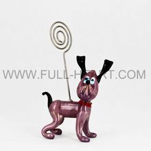 Popular Glass dog Card Holder For Business Gifts