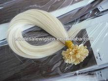 100% brazilian virgin hair u- tip hair extention