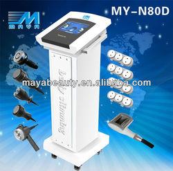 guangzhou maya factory/ cavitation slimming machine/MY-N80D 7IN1 RF Vacuum best Cavitation Slimming Machine(CE)