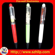 LED flashing floating liquid ball pen,magnetic pen,Liquid ball pen,Promotion pen