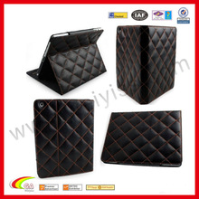 Luxury 100% Genuine Top Layer Cow Leather Case WYIPD-ABB004 for iPad 4 Case Black