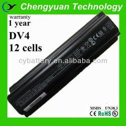 12 cell DV4 Battery High Capacity rechargeable Laptop Battery for HP DV4 DV5 DV6 Battery