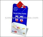 Custom design pop pockets hold printing paper business card,scratch card holder