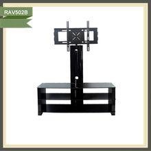 Plasma modern design wooden high gloss tempered glass tv cabinet