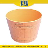 new style vat shape plastic flower pot mold injection nursery pot moulding