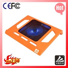 iDock NC2 red metal mesh laptop cooler with 14cm LED fan