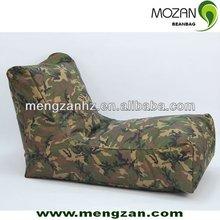 printed cotton military uniform long beanbag lounge sofa