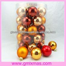 nice high quality,barrelled christmas glass ball ,xmas ornament