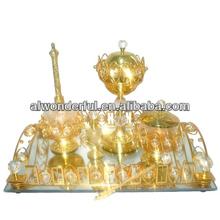 2013 gold plated arabic antique metal tea sets T026