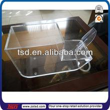 Tsd-a147 china fábrica personalizado atacado distribuidor acrílico doces caixa/armazenamento bin plástico/acrílico armazenamento de alimentos containers