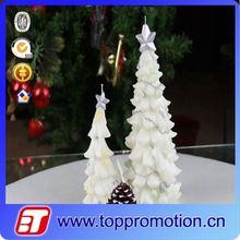 fashion custom white christmas tree candle wholesale