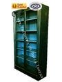 2014 shunde foshan beliebt stahl bibliothek bücherregal mit glastüren