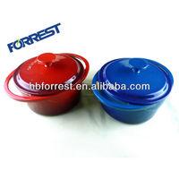 Cast iron 2 pcs round enamel casserole pot cookware set 2.5L/4.0L