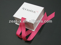 2013 high quality paper gift folding /foldable box with ribbon