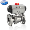 API flange Stainless Steel Ball Valve with double acting Pneumatic actuator